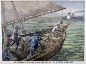 French Fishermen Fired on by the British, 1899 by Oswaldo Tofani