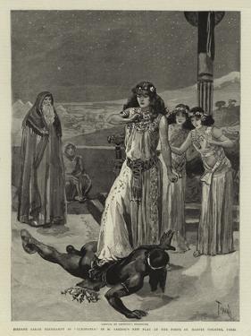 Madame Sarah Bernhardt as Cleopatra in M Sardou's New Play at the Porte St Martin Theatre, Paris by Oswaldo Tofani