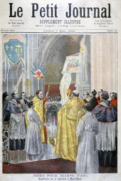 Service Commemorating Joan of Arc, Notre Dame, Paris, 1894 by Oswaldo Tofani