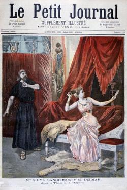 Sibyl Sanderson and Delmas in Jules Massenet 's Opera Thais, Paris, 1894 by Oswaldo Tofani