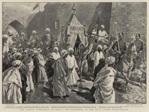 The Annual Pilgrimage to Mecca, the Departure of the Holy Carpet from Jeddeh by Oswaldo Tofani