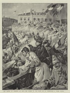 The Battle of Confetti at Nice, the Stands in the Place De La Prefecture, a Warm Corner by Oswaldo Tofani