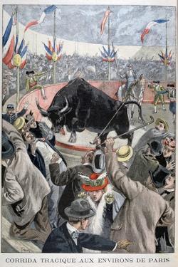 Tragic Bullfight Accident around Paris, 1899 by Oswaldo Tofani