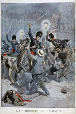 Trouble in Belgium, 1899 by Oswaldo Tofani