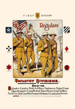 Regulars, Infantry Divisions by Otho Cushing