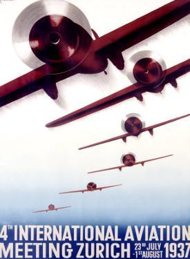 4th International Aviation Meeting, Zurich by Otto Baumberger