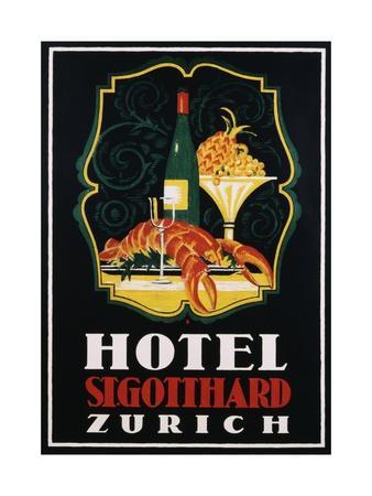 Hotel St. Gotthard Zurich Poster