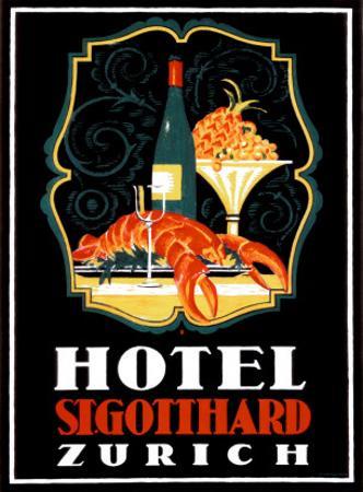 Hotel St. Gotthard, Zurich by Otto Baumberger