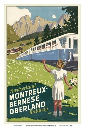 Switzerland - Montreux-Bernese Oberland Railway - The Chocolate Route