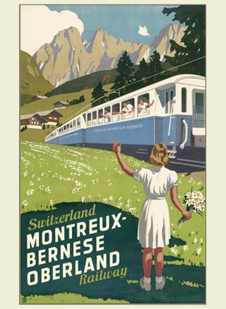 Switzerland - Montreux-Bernese Oberland Railway - The Chocolate Route by Otto Baumberger