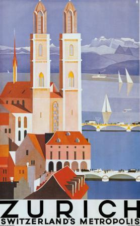 Zurich Metropolis by Otto Baumberger