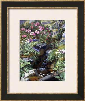 Alpine Flowers by a Stream by Otto Didrik Ottesen