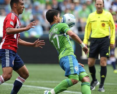 Seattle August 13 - Fredy Montero and Michael Umana