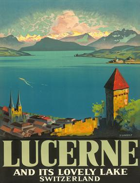 Lucerne Lovely Lake by Otto Landolt