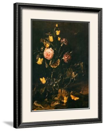Still Life with Flowers, Insects and Reptiles