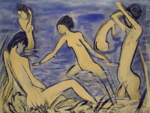 Bathers, 1913 by Otto Mueller
