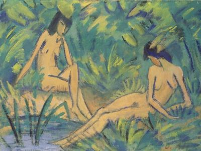 Girls Sitting by the Water, c.1920