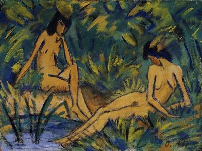 Seated Women by Water; Sitzende Madchen Am Wasser, C. 1914-16