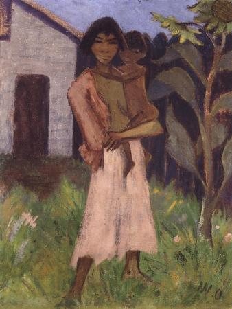 Standing Gypsy with Children; Stehende Zigeunerin Mit Kind, 1927