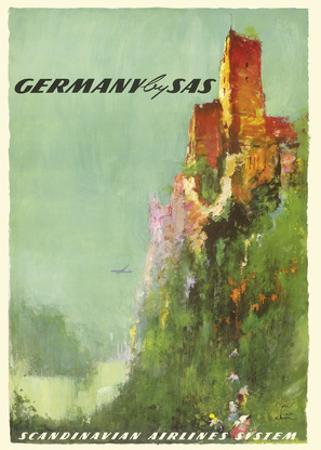 Germany - Rhine River Valley Castle - SAS Scandinavian Airlines System by Otto Neilsen