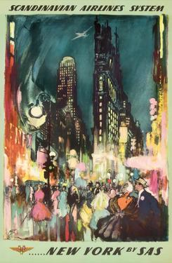 Scandinavian Airlines System - New York by SAS - New York City Times Square by Otto Nielsen