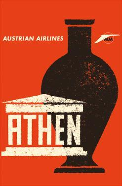 Athens (Athen) Greece - Ancient Greek Amphora - Austrian Airlines by Otto Peterseil