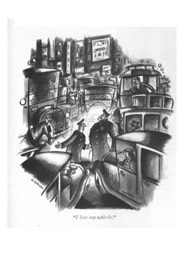 """I lost my whistle."" - New Yorker Cartoon by Otto Soglow"