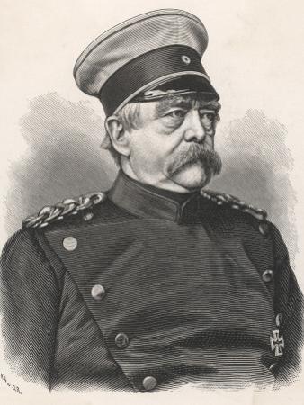 Otto Von Bismarck German Statesman, in 1885 Wearing Uniform
