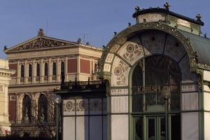 Austria, Vienna, Karlsplatz Underground Station, Designed Between 1894 and 1899 by Otto Wagner