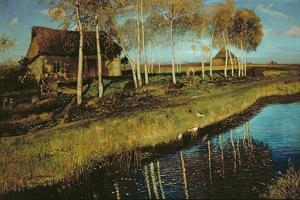 Autumn Morning on the Canal by Otto Wagner