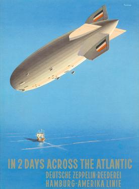 Deutsche Zeppelin Reederei c.1935 by Ottomar Anton