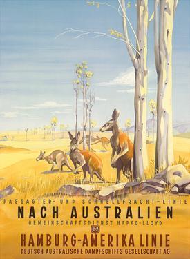 Hamburg America Line: Australian Outback, c.1935 by Ottomar Anton