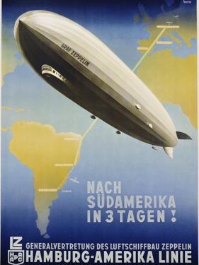 Nach Sudamerika in 3 Tagen! Poster by Ottomar Anton