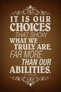 Our Choices JK Rowling Quote