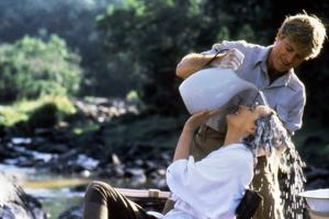 Out of Africa by Sydney Pollack with Robert Redford and Meryl Streep, 1985 (photo)