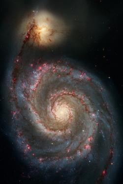 Out of This Whirl: the Whirlpool Galaxy M51 and Companion Galaxy Space