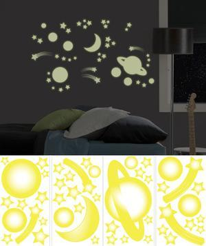 Outer Space Wall Decal Sticker Appliques