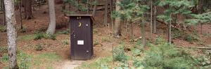 Outhouse in a Forest, Adirondack Mountains, New York State, USA