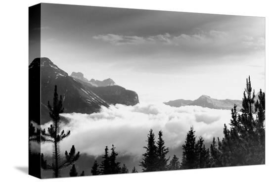 Over the Clouds, Banff National Park, Alberta--Stretched Canvas Print