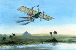Over the Nile and the Pyramids in a Plane
