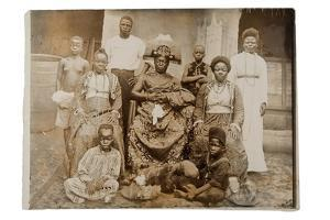 Overami, Ex-King of Benin, and His Suite, Nigeria, c.1900