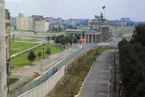 Overhead View of the Berlin Wall