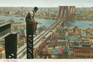 Overlooking the Brooklyn Bridge