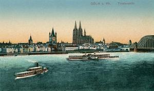 Overview of Cologne on the Rhine, Germany
