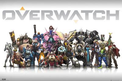 Overwatch Characters Centred