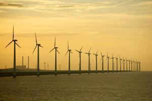 Line of Wind Turbines by Owen Franken
