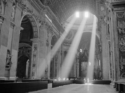 Sunbeams Inside St. Peter's Basilica by Owen Franken