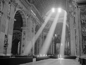 Sunbeams Inside St. Peter's Basilica by Owen Franken