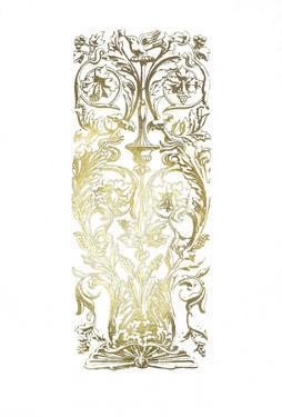 Gold Foil Renaissance Panel I by Owen Jones