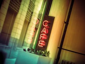 Cafe Sign by Owen Smith